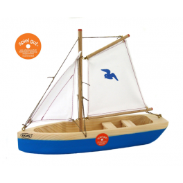 OGAS-Segelschiff mit Sitzbänken