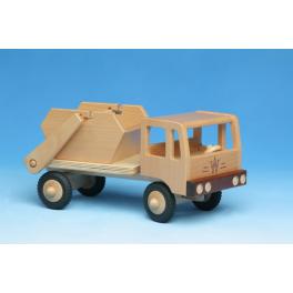 Holz - Müllfahrzeug mit Container für Kinder ab 3 Jahre