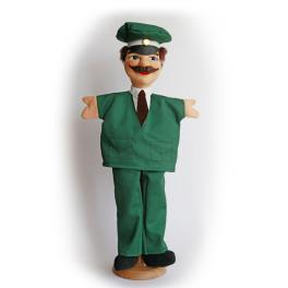 Echte Dresdner Handpuppe - Polizist