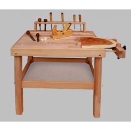 Holz Werkbank inkl. Aufschraubklötze für Kinder ab 3 Jahre