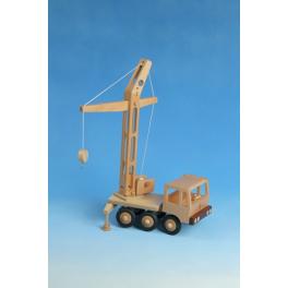 Holz-Zugmaschine Turmdrehkran für Kinder ab 3 Jahre